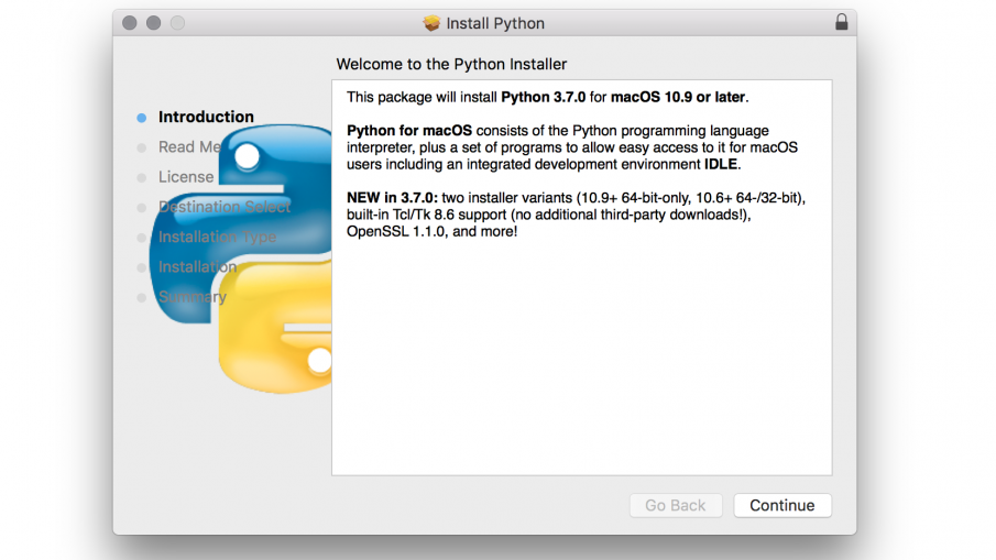 install python 3.7.0 on Mac